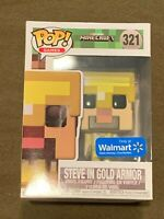 Minecraft Steve in Gold Armor Walmart Exclusive Pop Games Hero #321 Funko NEW