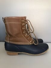 Khombu Letty Duck Boots Leather High Lace Up Rain Womens Size 7
