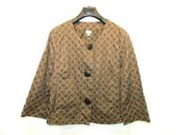 J Jill XL Dark Brown Blazer Shirt Jacket Button Front Embroidered Cotton Waist