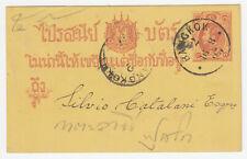 THAILAND SIAM. First Postal Card used BANGKOK 1893