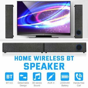 3D Surround Sound Bar Bluetooth Soundbar System Wireless Theater Speaker TV AUX