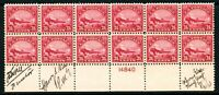 USAstamps Unused VF-XF US 1923 Airmail Signed Plate Block of 12 Scott C6 OG MNH