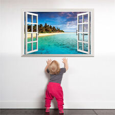 3D Oceano Natura Mare Vista Da parete Finestra Arredo Casa Adesivo Camera foto