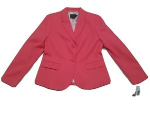 New With Tags Pendleton Wool Blazer Size 10 Petite Pink Two Button $249.00