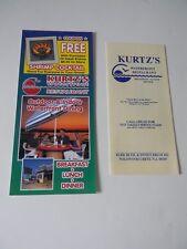 Kurtz's Restaurant Paper Take-Out Menu & Rack Card / Wildwood Crest / New Jersey