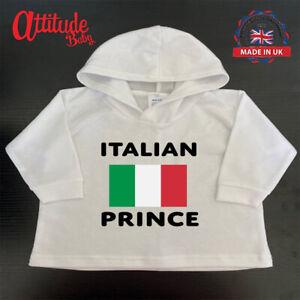 Italy Baby Hoody-White-Printed-Italian Prince-Italy Baby Clothes-Italy Baby