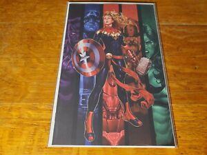 Captain Marvel #16 Brooks Exclusive Virgin Variant NM Avengers Captain America