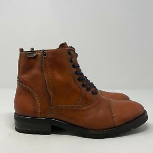 Pikolinos Mens Cork 07S-6814 Teja Leather Lace Up Ankle Combat Boots Size 8