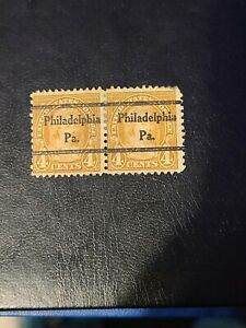 Sc# 636 US Stamp 1927 4c Martha Washington Used Black Overprint 2  Block -#1780