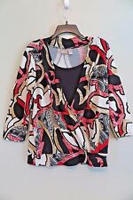 CHICO'S Multi-Color Dual-Layer Wrap Top Size 2 (M/L)