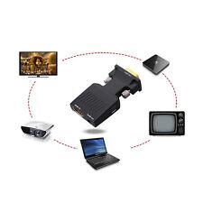 VGA to HDMI 1080P HD AV Konverter HDTV Audio Video Kable Adapter for PC DVD STB