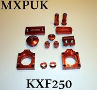 KXF250 2009 BLING KIT MXPUK ANODIZED ALLOY PARTS PACK IN RED 2008 KXF250 (629)