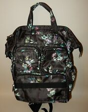 New Lug Convertible Tote - Via 2 Backpack Black Bouquet