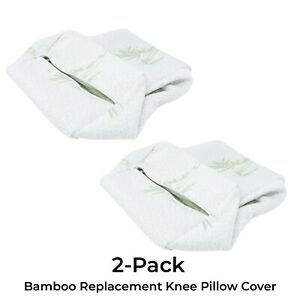 Komfie Bamboo Knee Pillow Cover - Replacement Leg Pillow Case - Cooling Cover