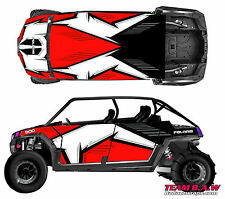 Polaris 4 RZR 900 xp Design MXVEC 002 Decal Graphic Kit Wraps Hood Scoop