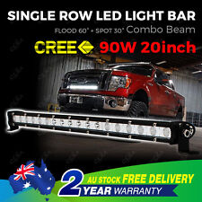 CREE LED Light Bar 20'' Driving Single Row Work Spot Flood Offroad 4WD Truck