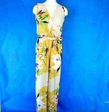 Ladies Lightweight Summer Jumpsuit Colorful Floral Print Wide Leg One Size New
