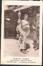 POSTCARD Macedonia Thessaloniki Small Traders Lemonade Seller c1915 perf