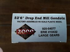 "ERIE #10432, 52'6"" Drop End Mill Gondola  w/Large Gears, Walther's 920-54077"