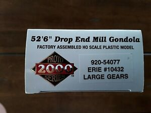 """ERIE #10432, 52'6"""" Drop End Mill Gondola  w/Large Gears, Walther's 920-54077"""