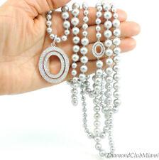 Ivanka Trump Grey Pearl Diamond & 18kt Gold Long Necklace