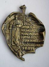 POPE JOHN PAUL II Visit to Poland 1999 year CATHOLIC MEDAL interesting SHAPE