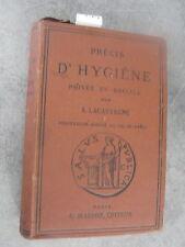 A. Lacassagne Précis hygiène privée Monoyer ophtalmologie optique médecine