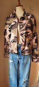 Zoey Beth pink camo jean jacket 20W