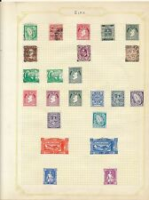 Stamp collection early  Ireland Eire mostly mint unused on album page