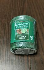 YANKE CANDLE, VOTIVES, BALSAM AND CEDAR