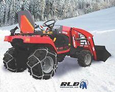 Grizzlar GTN-509 Garden Tractor Alloy Tire Chains Diamond Net 20x8.00-8/-10