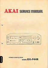 Service Manual-Anleitung für Akai GX-F44R