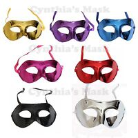 Wholesale 6pcs Venetian Metallic Plastic Mask Masquerade Assorted color NEW