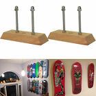 2Pcs Skateboard Display Wood Wall Mount , Hanger, Luxury Floating Deck Display