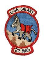 Rare Military Patch C-5A Galaxy 22 Mas Donkey Climbing Hill