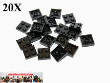 20X Lego® 3022 Platten Plate 2X2 Schwarz Black Neu