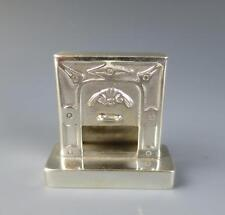 Vintage Dutch Silver FIREPLACE Dollhouse Miniature Hearth Mantle Doll House Fire