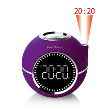 NAFNAF Uhrenradio Radiowecker Clockine LCD Display / MP3 / Radio Wecker, lila