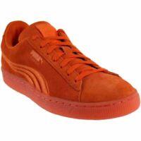 Puma Suede Classic Badge Iced  - Orange - Mens