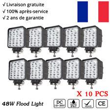 10Pcs 48W LED phares longue portée 12v SUV 4x4 Buggy l'éclairage Offroad Tractor