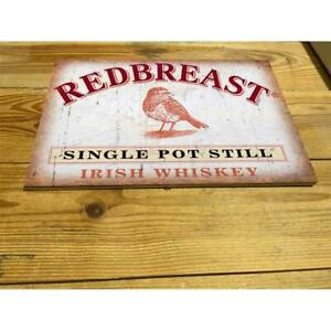 Redbreast Irish Whiskey PUB BAR  ENAMEL / CERAMIC WALL SIGN
