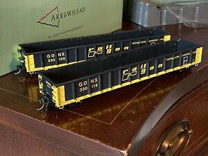 Arrowhead HO Greenville Gondola RailGon GONX LOT x2 Cars Different Road Numbers