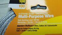 Multi-Purpose Wire 4 Strand 20 GA 100 ft. 100 Pound Strength Galvanized