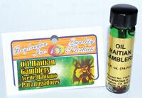 Haitian Gamblers Oil,  (1)  Gambling, Casino, Money,  Santeria, Hoodoo, Wicca