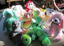 10 TY Beanie baby lot: Bliss, Hoppity, Brigitte, Squirmy, Sammy, Waddle, & more