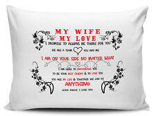 My Wife My Love I Promise To Always Be There For You Novelty Pillow Case