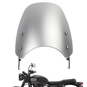 Plastique ABS Pare-Brise Saute-Vent pour Triumph Bonneville T100 T120 Argenté A