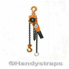 More details for lever hoist block 750kg  3/4 ton ratchet winch pull lift 1.5 metre handy straps