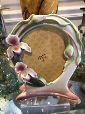 Franz Porcelain Slipper Orchid Picture Frame Msrp $209.00