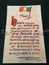 The Toast! 1916 Easter Rising Patriotic Poem-From Lewes Jail by Irish IRA Print